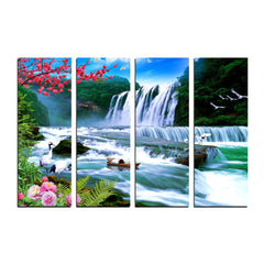 ecraftindia-4-panel-waterfall-scenic-view-premium-canvas-painting_1