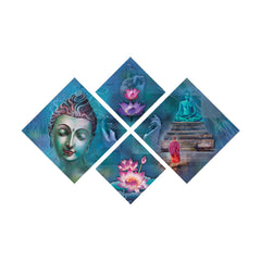 ecraftindia-set-of-4-lord-buddha-premium-canvas-painting_1