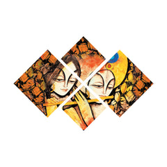 ecraftindia-set-of-4-radha-krishna-premium-canvas-painting_1