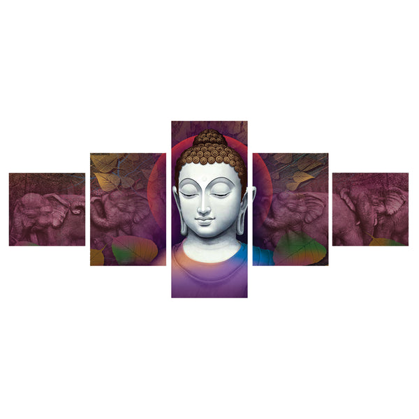 cpgkb5101-ecraftindia-set-of-5-lord-buddha-premium-canvas-painting_1