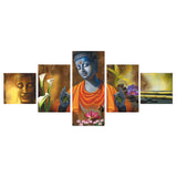 cpgkb5102-ecraftindia-set-of-5-lord-buddha-premium-canvas-painting_1