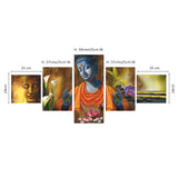 cpgkb5102-ecraftindia-set-of-5-lord-buddha-premium-canvas-painting_3