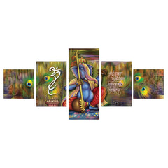 cpgkb5103-ecraftindia-set-of-5-lord-ganesha-premium-canvas-painting_1