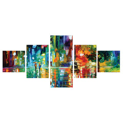 ecraftindia-set-of-5-beauty-under-rain-premium-canvas-painting_1