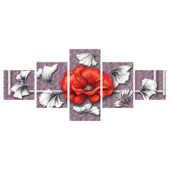ecraftindia-set-of-5-floral-theme-premium-canvas-painting_1
