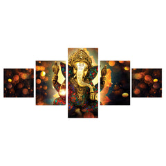 ecraftindia-set-of-5-lord-ganesha-premium-canvas-painting_1