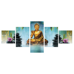 ecraftindia-set-of-5-lord-buddha-premium-canvas-painting_1