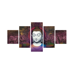 cpgkb59036-ecraftindia-set-of-5-lord-buddha-premium-canvas-painting_1