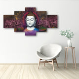 cpgkb59036-ecraftindia-set-of-5-lord-buddha-premium-canvas-painting_2