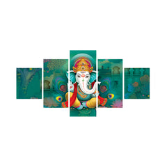 cpgkb59070-ecraftindia-set-of-5-lord-ganesha-premium-canvas-painting_1