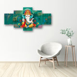 cpgkb59070-ecraftindia-set-of-5-lord-ganesha-premium-canvas-painting_2