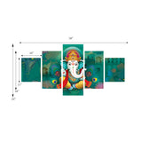 cpgkb59070-ecraftindia-set-of-5-lord-ganesha-premium-canvas-painting_3