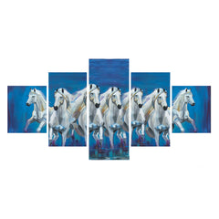 cpgkb59085-ecraftindia-set-of-5-running-lucky-horses-design-premium-canvas-painting_1