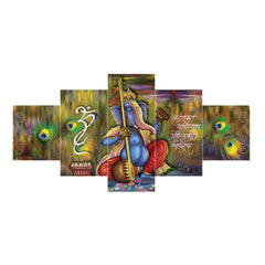 cpgkb59641-ecraftindia-set-of-5-lord-ganesha-premium-canvas-painting_1