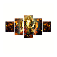 cpgkb59666-ecraftindia-set-of-5-lord-ganesha-premium-canvas-painting_1
