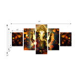 cpgkb59666-ecraftindia-set-of-5-lord-ganesha-premium-canvas-painting_3