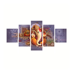 cpgkb59667-ecraftindia-set-of-5-lord-ganesha-premium-canvas-painting_1