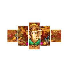 cpgkb59668-ecraftindia-set-of-5-lord-ganesha-premium-canvas-painting_1