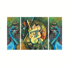 cpgkb69132-ecraftindia-set-of-3-lord-ganesha-playing-guitar-premium-canvas-painting_1
