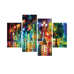 cpgkb79116-ecraftindia-set-of-4-beauty-under-rain-premium-canvas-painting_1