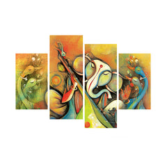 cpgkb79118-ecraftindia-set-of-4-lord-ganesha-premium-canvas-painting_1