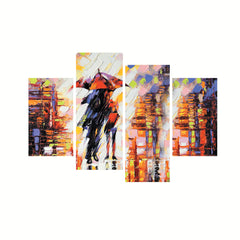 cpgkb79120-ecraftindia-set-of-4-loving-couple-under-umbrella-in-rain-premium-canvas-painting_1