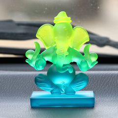 CRGGCAR520_GR-eCraftIndia-Green-and-Blue-Double-Sided-Crystal-Car-Ganesha-Showpiece_1