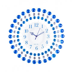 ecraftindia-decorative-analog-blue-round-diamond-series-wall-clock_1