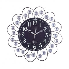 ecraftindia-decorative-analog-black-diamond-series-wall-clock_1