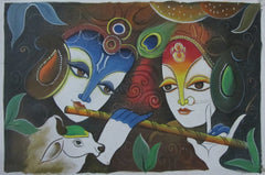 EPC108-eCraftIndia-Radha-Krishna-Original-Art-Canvas-Painting_1