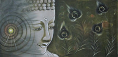 EPC110-eCraftIndia-Lord-Buddha-Original-Art-Canvas-Painting_1