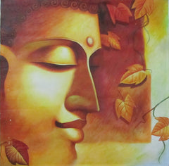 EPC112-eCraftIndia-Peaceful-Buddha-Original-Art-Canvas-Painting_1