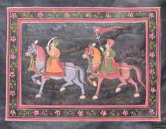 EPHB15-eCraftIndia-Royal-Mughal-March-Original-Art-Silk-Painting_1