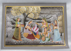 EPHB20-eCraftIndia-Eternal-love-of-Radha-for-Lord-Krishna-Original-Art-Silk-Painting_1