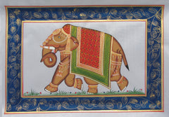 EPHB24-eCraftIndia-Royal-Elephant-Original-Art-Silk-Painting_1