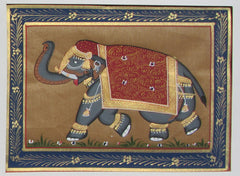 EPHB43-eCraftIndia-Jumbo-Elephant-Original-Art-Silk-Painting_1