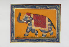 EPHB45-eCraftIndia-Saluting-Elephant-Original-Art-Silk-Painting_1