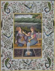 EPHB75-eCraftIndia-multicoloured-handmade-mughal-Original-Art-Silk-Painting_1