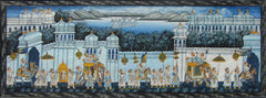 EPHB86-eCraftIndia-Royal-Procession-Original-Art-Silk-Painting_1