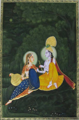 EPS105-eCraftIndia-Radha-Krishna-Original-Art-Silk-Painting_1