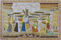 EPS99-eCraftIndia-Radha-Krishna-Original-Art-Silk-Painting_1