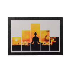 ecraftindia-5-cut-set-of-man-doing-yoga-satin-matt-texture-uv-art-painting_1