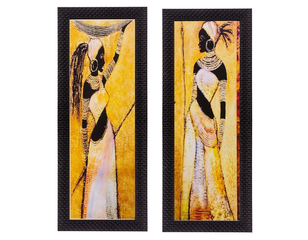 ecraftindia-set-of-2-tribal-women-matt-textured-uv-art-painting_1