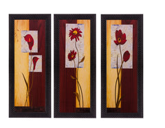 ecraftindia-set-of-3-floral-matt-textured-uv-art-painting_1