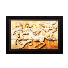 ecraftindia-abstract-running-horses-matt-textured-uv-art-painting_1