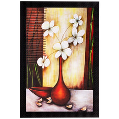 ecraftindia-white-flowers-and-vase-matt-textured-uv-art-painting_1