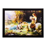 ecraftindia-girls-playing-in-garden-view-matt-textured-uv-art-painting_1