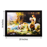 ecraftindia-girls-playing-in-garden-view-matt-textured-uv-art-painting_3
