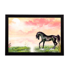 ecraftindia-black-horse-satin-matt-texture-uv-art-painting_1