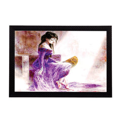 ecraftindia-girl-in-purple-dress-satin-matt-texture-uv-art-painting_1